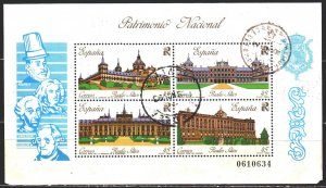 Spain. 1989. bl 35. Architecture of spain. USED.