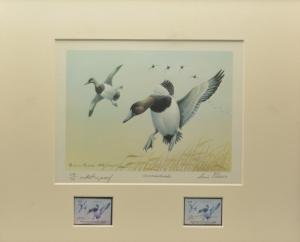 1976 FRAMED Artist Proof MD STATE WATERFOWL PRINT - ARTIST LOUIS FRISINO