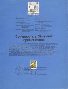 US SC#SP759 Contemporary Christmas Souvenir Page (#2245)