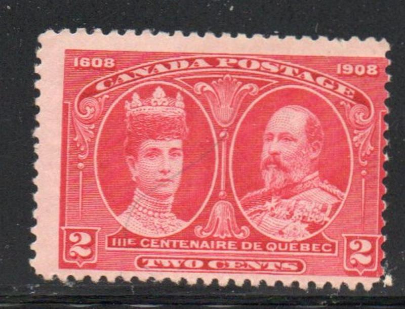 Canada Sc  98 1908 2c E VII & Queen stamp mint NH