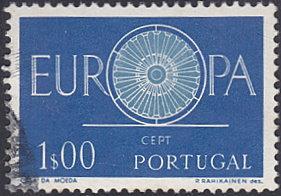 Portugal # 866 used ~ 1e Europa - 19-spoked Wheel