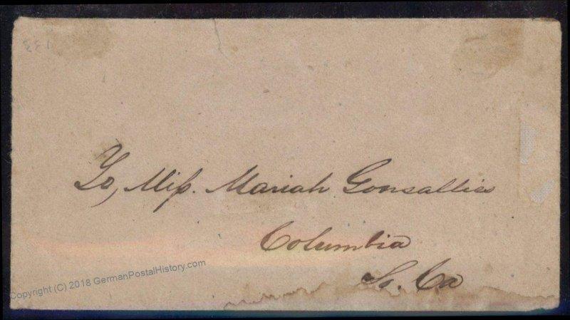 CSA #13 Civil War Confederate 20c Washington Charleston SC Cover 92715
