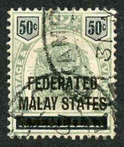 Malay States SG8  Malay States on 50c Negri Sembilan