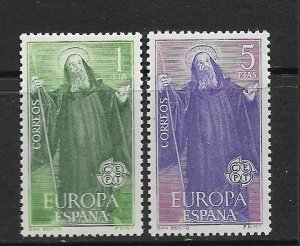 SPAIN - EUROPA 1965 - SCOTT 1313 TO 1314 - MNH