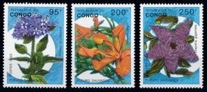 [67238] Congo Brazzaville 1993 Flora Flowers Blumen From Set MNH