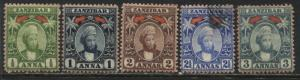 Zanzibar 1898 1/2 to 3 annas mint o.g.