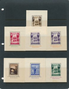 Stamp Spain Sheets WWII Cinderella Viva Franco Civil War Pro Beneficencia MH