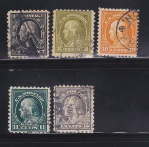 United States 430-431, 433-434, 437 U George Washington And Benjamin Franklin