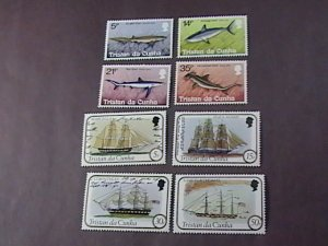 TRISTAN da CUNHA # 302-309-MINT/NEVER HINGED-2 COMPLETE SETS---1982