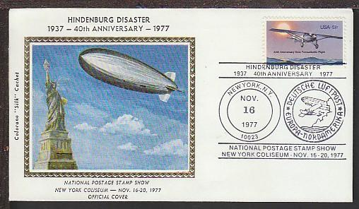 40th Anniversary Hindenburg Disaster Colorano Cover