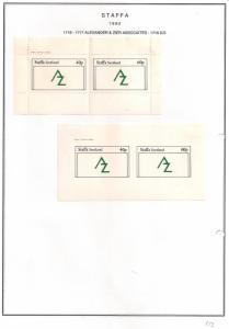 SCOTLAND - STAFFA - 1982 - Alexander & Zier - Perf & Imperf 2v Sheets - MLH
