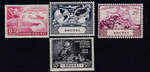 BRUNEI  1949  SG  96 - 99   UPU SET   MH
