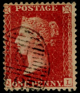 SG40, 1d rose-red PLATE 49, LC14, FINE USED. Cat £18. QL
