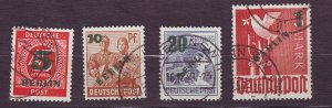 J23206 JLstamps 1949 berlin germany set used #9n64-7 ovpt,s