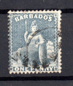 Barbados 1861 1d pale blue fine used SG18 WS15525