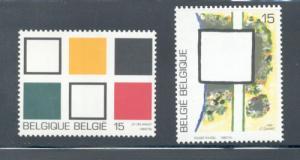 Belgium Sc  1449-0 1992 Absrtact Paintings stamp set mint NH