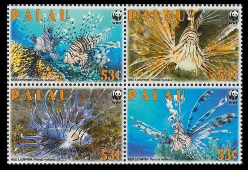 Palau MNH Block 992 Red Lionfish WWF 2009