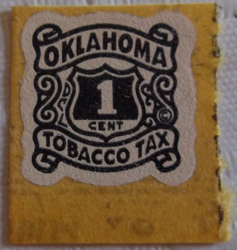 United States State Revenue Oklahoma Tobacco Tax  10 Cent  Large Shield MNH