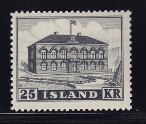 Iceland Scott # 273 VF OG never hinged nice color cv $ 240 ! see pic !