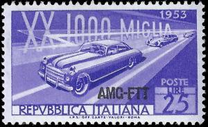 Italy-Trieste A 1953 Sc 166 MNH