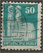 GERMANY, 1948, used 50pf bluish green, Munich Scott 653