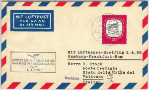 64794 - GERMANY DDR - POSTAL HISTORY - FIRST FLIGHT COVER - CIRCUS CLOWN 1958