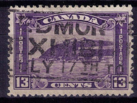 CANADA Sc 201 Used 13c Very Fine