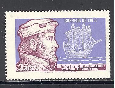 Chile Sc # 405 mint hinged (DT)