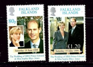 Falkland Is 729-30 MNH 1999 Prince Edward Wedding