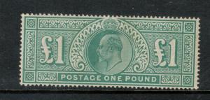 Great Britain #142 Extra Fine Mint Full Original Gum - Barest Trace Of Hinging