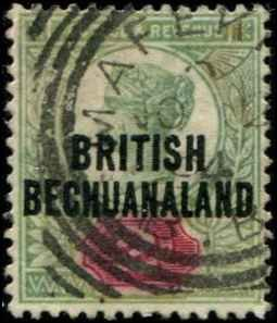 Bechuanaland SC# 34 o/p on Great Britain 2d Used wmk 30