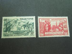French Mauritania 1937 Sc 70,71 MH