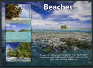 Tuvalu Landscapes Stamps 2018 MNH Beaches Trees Tourism Nature Marine 3v M/S I