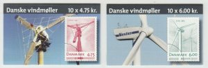 Denmark Sc 1375, 1376 Intact Booklets. 2007 Windmills, complete set of 2, VF