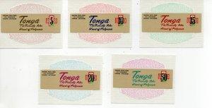 Tonga 337-341 MNH
