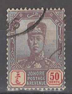 COLLECTION LOT # 3165 MALAYA JOHORE #67 1904 CV=$17.50