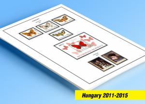 COLOR PRINTED HUNGARY 2011-2015 STAMP ALBUM PAGES (45 illustrated pages)