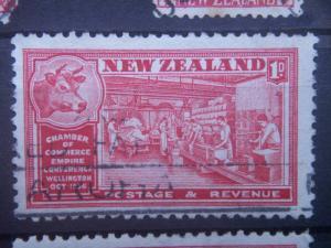 NEW ZEALAND, 1936, used 1p, Chambers of Commerce Scott 219