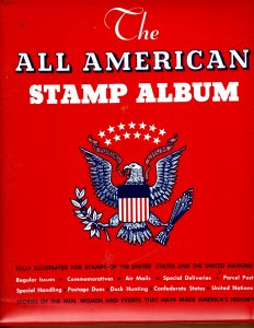 Minkus-III All American 2 Post Binder w/ 1,000's of Stamps, Most Unused 1985-91
