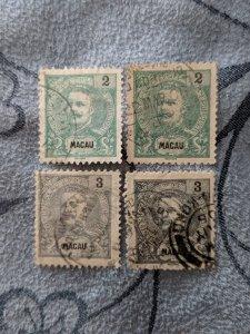 Macao 77-8, 80-1 F-VF, CV $6.90