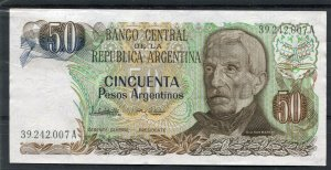 Argentina Banknote 50 Pesos General San Martin uncirculated