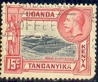 Mount Kilimanjaro, Kenya, Uganda & Tanzania SC#49 used