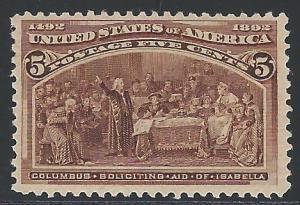 Scott 234, Original Gum, 1893 Columbian Expostion Issue
