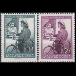 HUNGARY 1953 - Scott# B209-10 Stamp Day Set of 2 NH