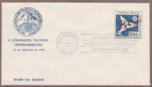 Costa Rica Airmail # C338 Philatelic Convention FDC - I Combine S/H