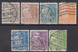 Denmark #232-8 F-VF Used CV $32.60 (B6427)