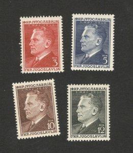 YUGOSLAVIA-MNH SET-FAMOUS-JOSIP BROZ TITO-1950.