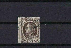 VENEZUELA 1880 50c BROWN USED STAMP  REF 6221