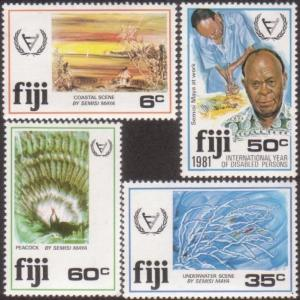 Fiji 1981 SG608-611 International Year Disabled Persons set MNH