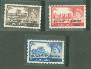 Kuwait 117-119 Mint VF NH